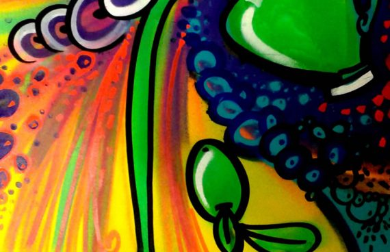 l'oliva di olio7, 50 x 70cm spray su cartoncino