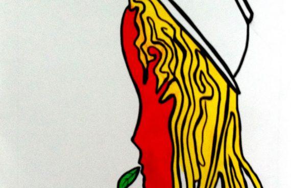 asciutta pasta,70 x 100 cm spray su carta