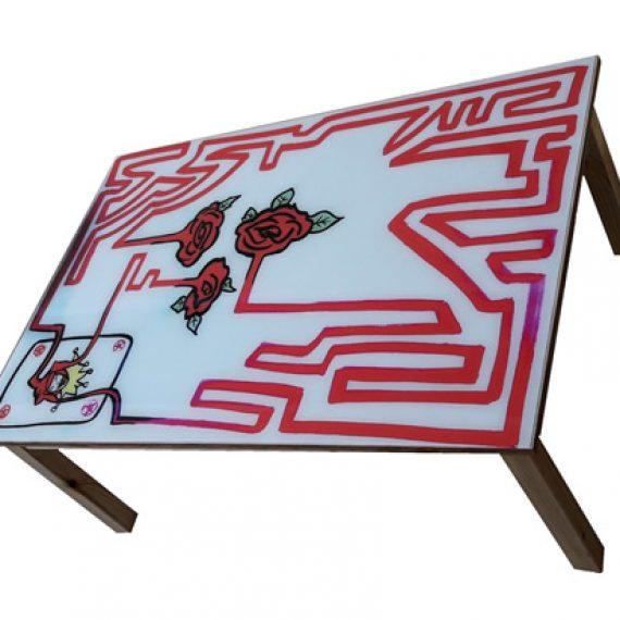 il jolly innamorato,tavolo da salotto,101 x 71 cm,h 40 cm