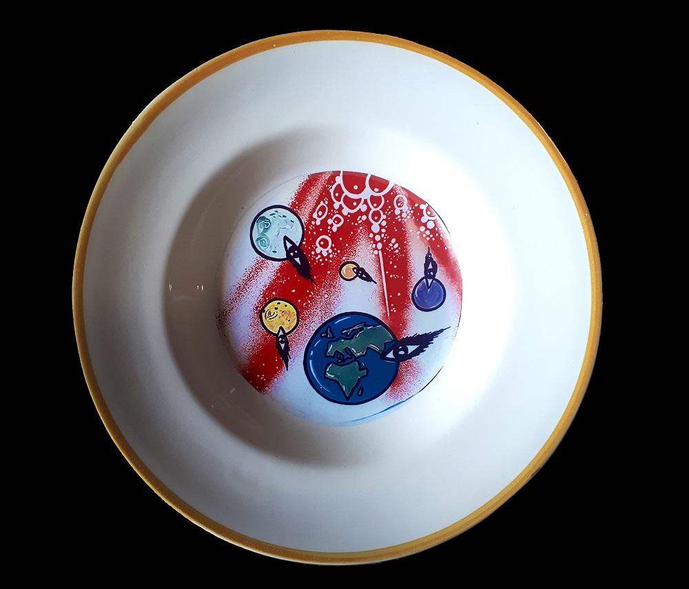 vendita online piatti ceramica decorati a stampo